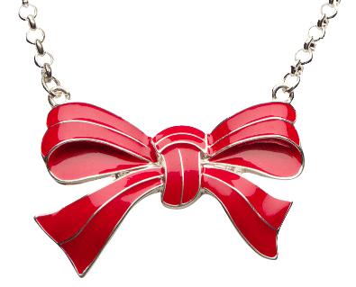 Red Bow Necklace by Kitsch 'n' Kouture - InkedShop - 1