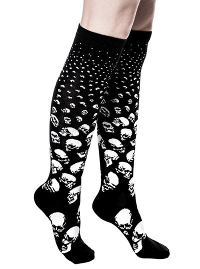 """Scully"" Long Socks by Killstar (Black)"