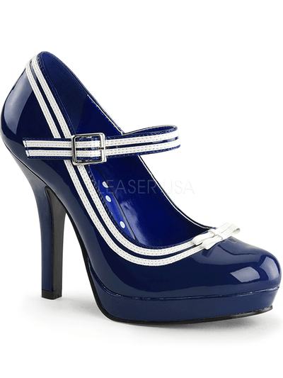 "Women's ""Secret"" Heels by Pinup Couture (Blue) - www.inkedshop.com"