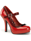 "Women's ""Secret"" Heels by Pinup Couture (Red) - www.inkedshop.com"