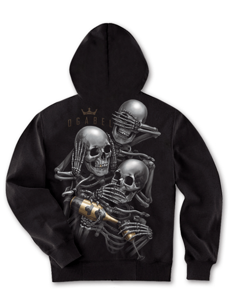 "Men's ""See No 014"" Zip-Up Hoodie by OG Abel (Black) - www.inkedshop.com"