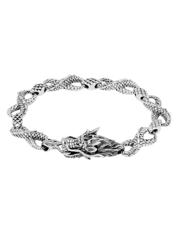 """Seiryu Dragon"" Bracelet by Silver Phantom Jewelry"