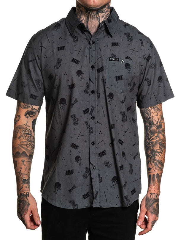 Men's Sentenced Button Up by Sullen