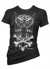 "Women's ""Owl"" Tee By Pinky Star (Black) - InkedShop - 1"