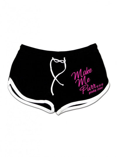 "Women's ""Sex Kitten"" Shorts by Pinky Star (Black) - www.inkedshop.com"