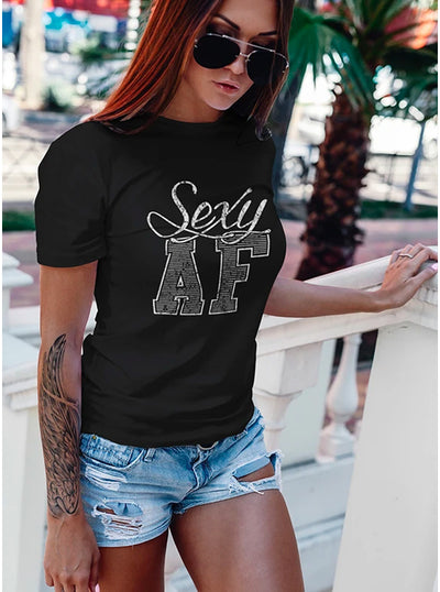 Women's Sexy AF Tee by Tat Daddy