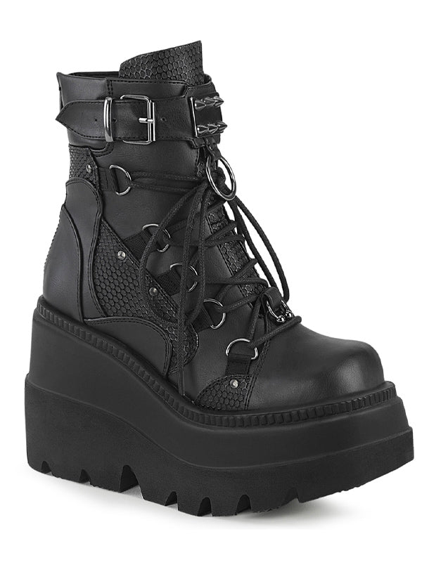 Women's Shaker 60 Wedge Boots by Demonia