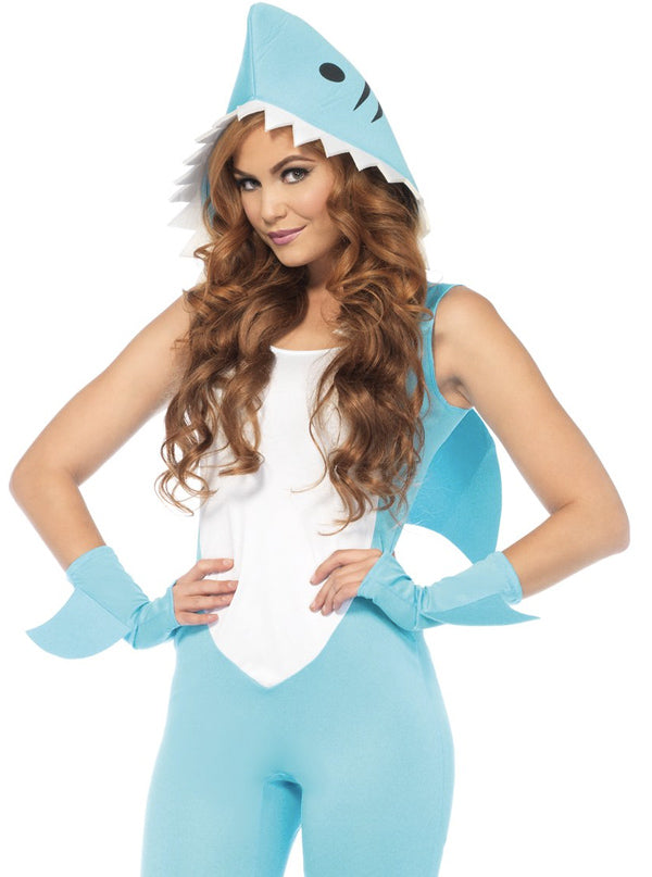 "Women's ""Deadly Land Shark"" Costume by Leg Avenue (Teal)"