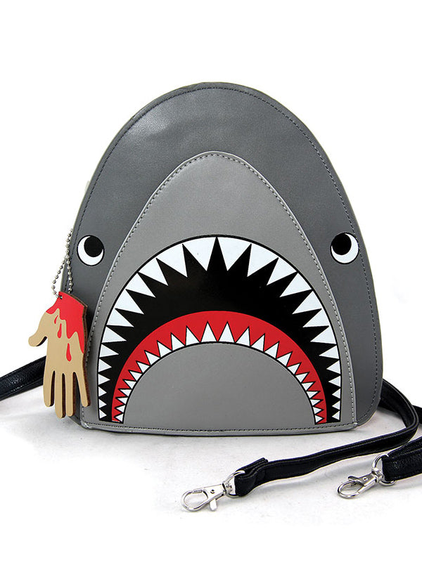Scary Shark Crossbody Bag