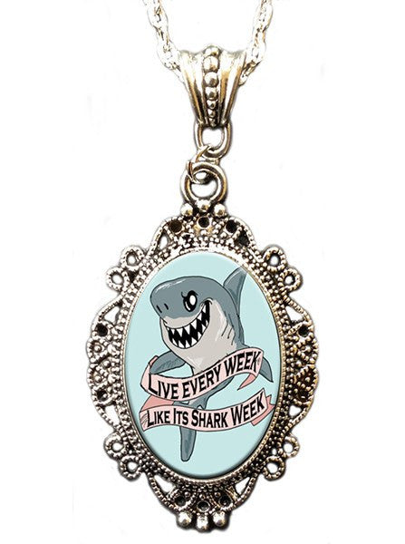 Shark Week Cameo Necklace by Alkemie & Artistry