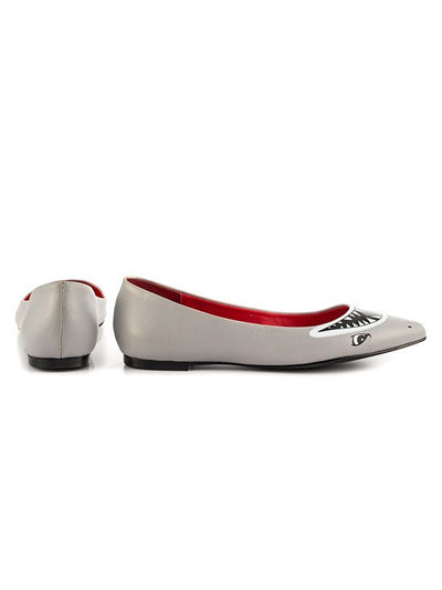 """Sharkie"" Flats by Taylorsays (Grey) - www.inkedshop.com"