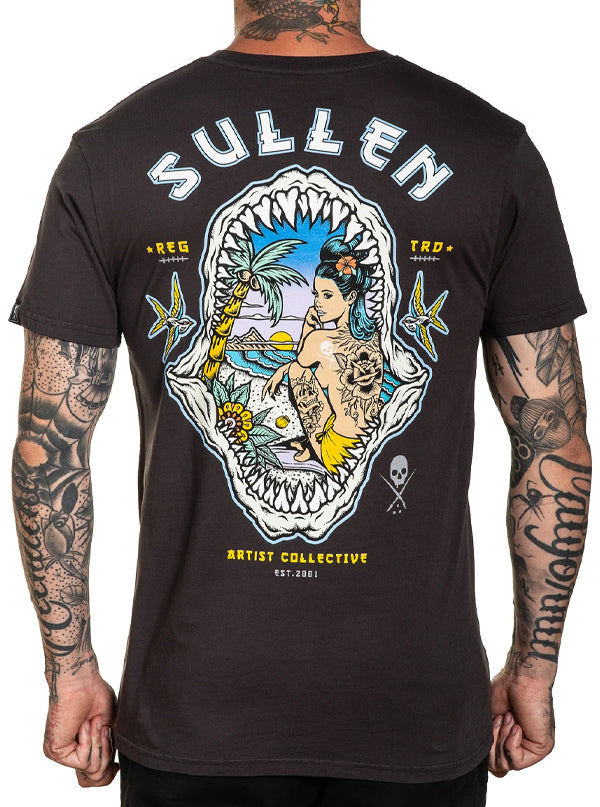 Men's Shark Sunset Tee by Sullen