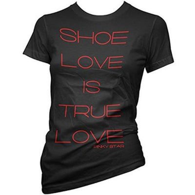 "Women's ""Shoe Love Is True Love"" Tee by Pinky Star (Black) - InkedShop - 1"