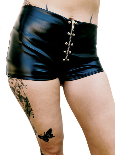 Women's Zipper Shorts by Switchblade Stiletto