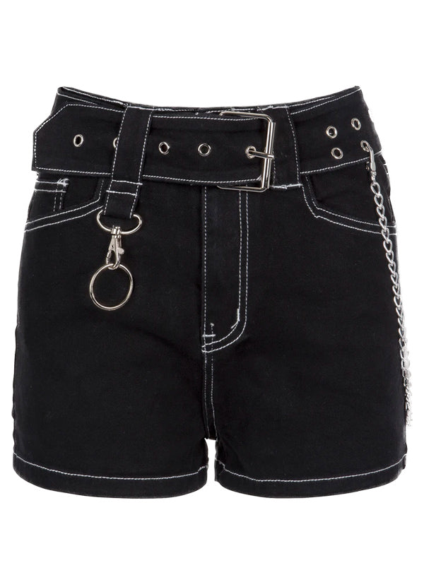 Women's Denim Hot Pants Shorts by Pretty Attitude Clothing