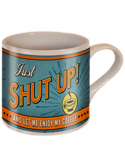 """Shut Up!"" Coffee Mug by Trixie & Milo - www.inkedshop.com"