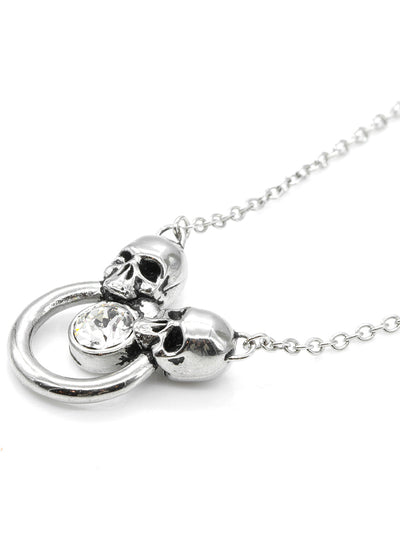 Siamese Skull Necklace by Controse