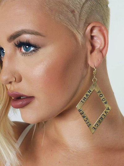 """Sicker Than Your Average"" Earrings by Samii Ryan Jewelry (Gold) - www.inkedshop.com"