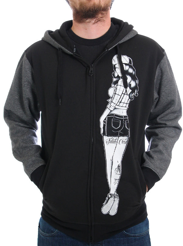 "Men's ""Side to Side"" Hoodie by Fatal Clothing (Black)"