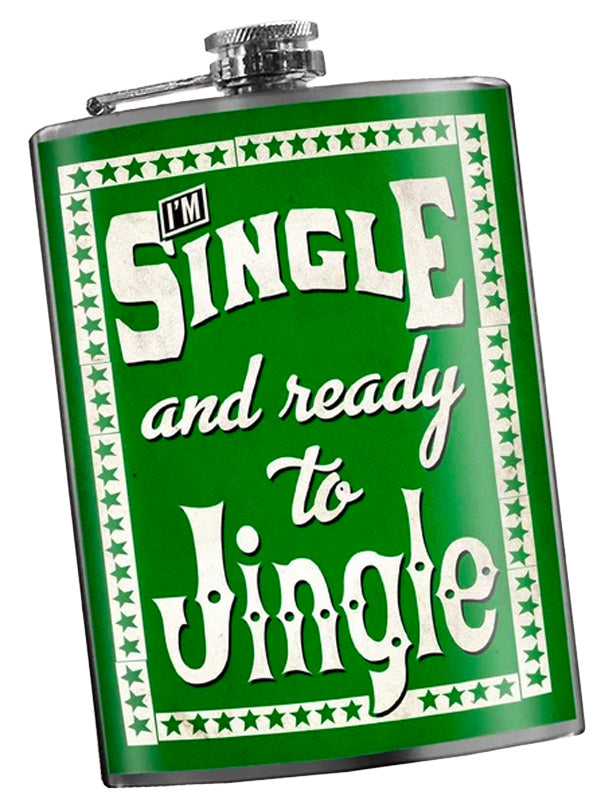 Single and Ready to Jingle Flask by Trixie & Milo