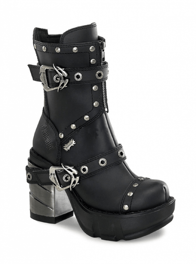 "Women's ""Sinister 201"" Vegan Boots by Demonia (Black) - www.inkedshop.com"