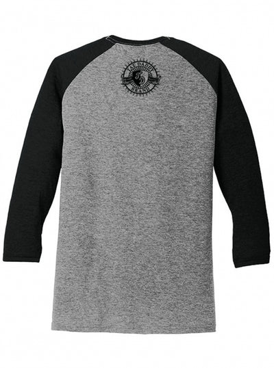 "Men's ""Sink Or Swim"" Raglan Tee by Tat Daddy (Black/Grey) - www.inkedshop.com"