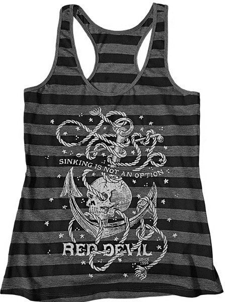 "Women's ""Sinking Is Not An Option"" Tank by Red Devil (Black/Grey) - www.inkedshop.com"