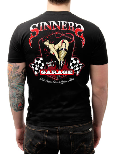 Men's Sinners Garage Tee by Lethal Threat