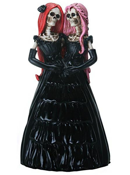Skelamese Twins Statuette by Summit Collection - www.inkedshop.com