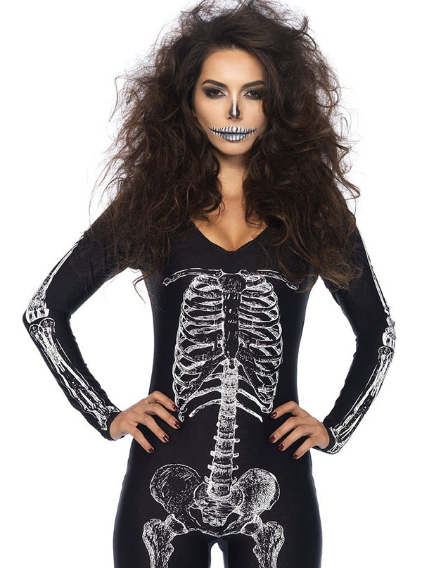 "Women's ""Skeleton"" Catsuit by Leg Avenue (Black)"