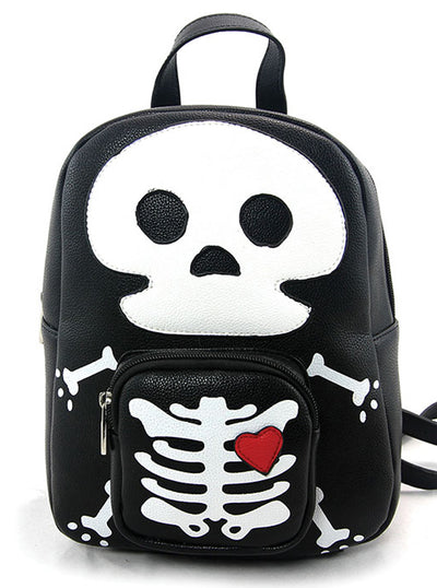 Skeleton Man Mini Backpack