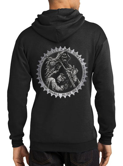 Men's Sketchy Times Hoodie by Tat Daddy