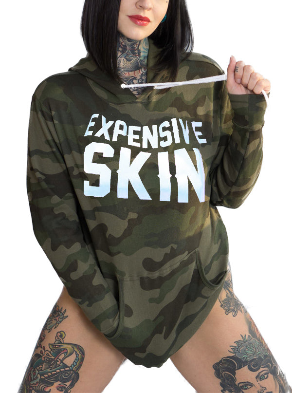"Unisex ""Expensive Skin"" Camo Hoodie by InkAddict (More Options)"