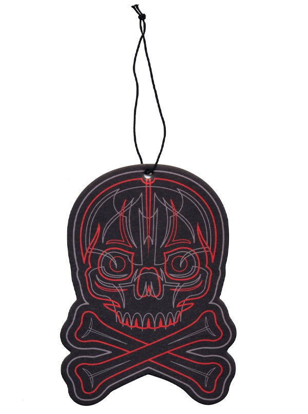 Pinstriped Skull Air Freshener by Sourpuss