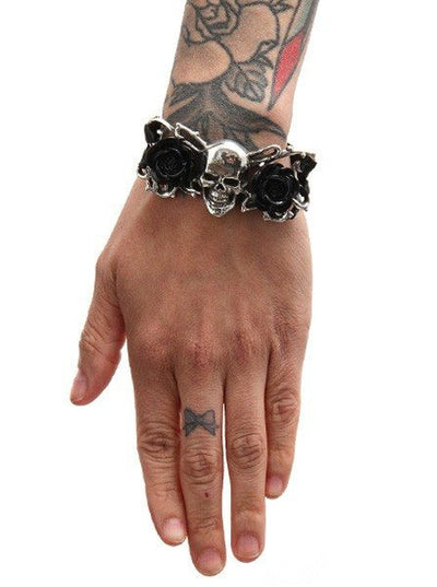 """Skull & Briar Rose"" Bracelet by Alchemy of England - InkedShop - 3"
