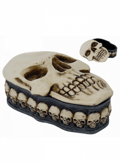 """Skull"" Box by Pacific Trading (Bone) - www.inkedshop.com"