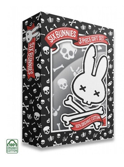 "Baby ""Skulls"" Gift Set by Six Bunnies (Black) - www.inkedshop.com"