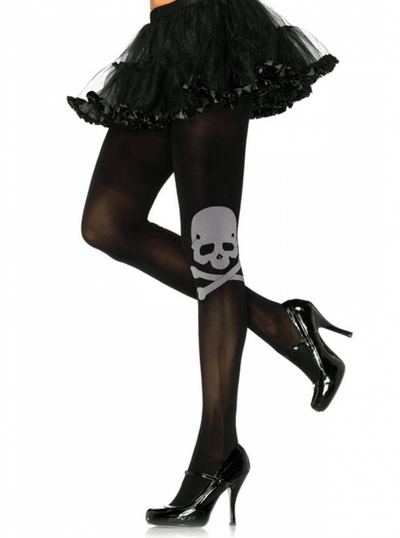 "Women's ""Skull And Crossbones"" Tights by Leg Avenue (Black) - www.inkedshop.com"