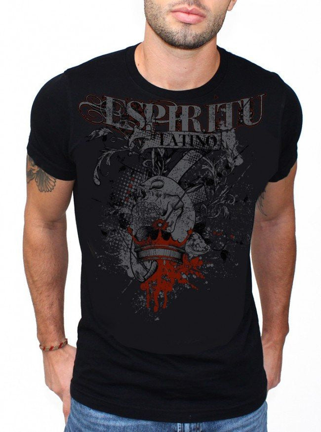 "Men's ""Skull Crown"" Tee by 7th Revolution (Black) - www.inkedshop.com"