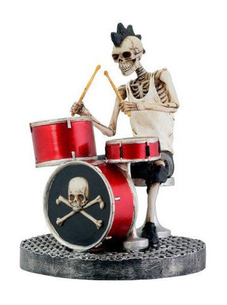 Skull Drummer Statue by Summit Collection - www.inkedshop.com