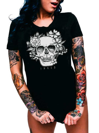 "Women's ""Until Forever"" Tee by Inked (Black)"