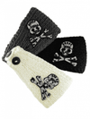 "Women's ""Skull Face Rhinestones"" Headband by Inked (Multi Colors) - www.inkedshop.com"