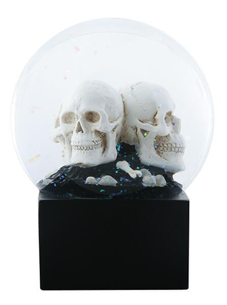 """LED Skull Heads"" Water Globe by Summit Collection - www.inkedshop.com"