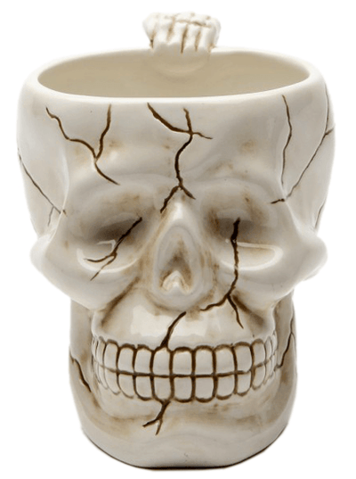 """Skull"" Coffee Mug by Pacific Trading (Bone) - www.inkedshop.com"