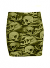 "Women's ""Skull Pile"" Mini Skirt by Kreepsville 666 (Natural) - InkedShop - 1"