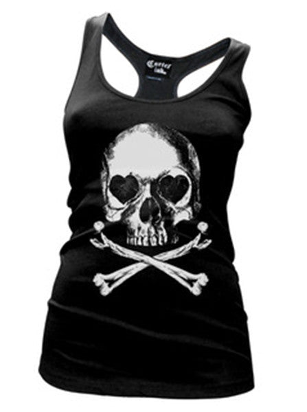 Women's Lovely Bones Racerback Tank by Cartel Ink