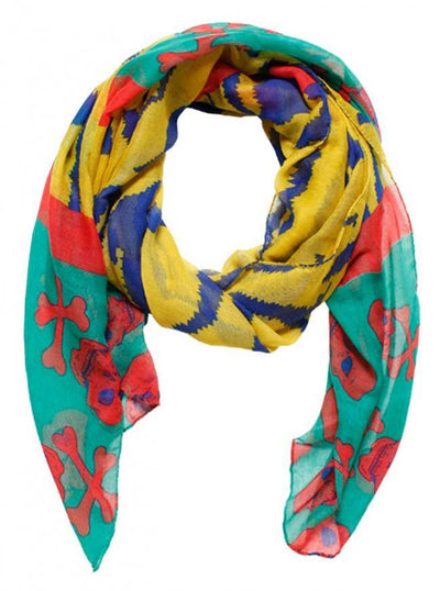 """Zigzag Striped With Skull"" Scarf (More Options) - www.inkedshop.com"