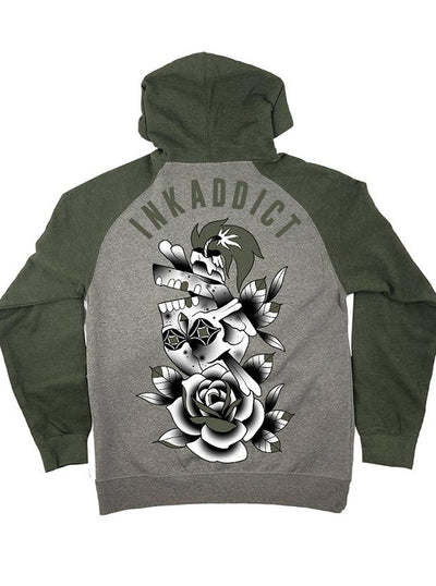 "Men's ""Campbell Skull"" Hoodie by InkAddict (More Options)"