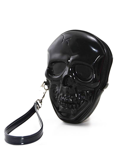 Smiling Skull Zippered Wristlet