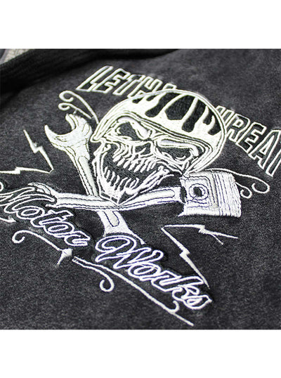 Men's Faster Skull Zip-Up Hoodie by Lethal Threat